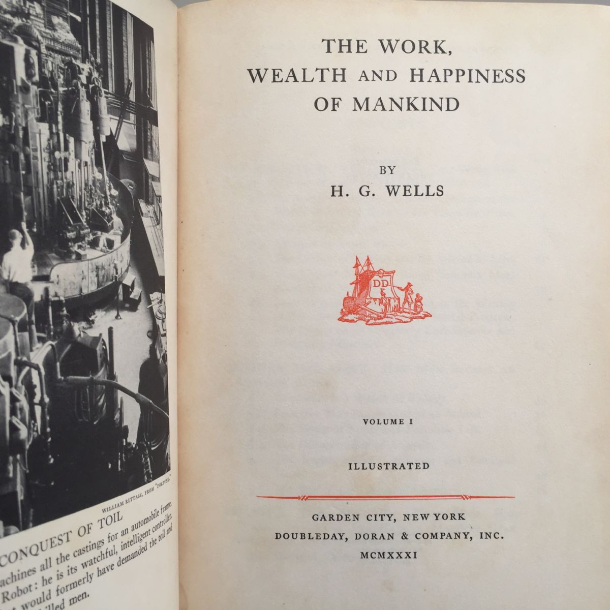 The Work, Wealth and Happiness of Mankind