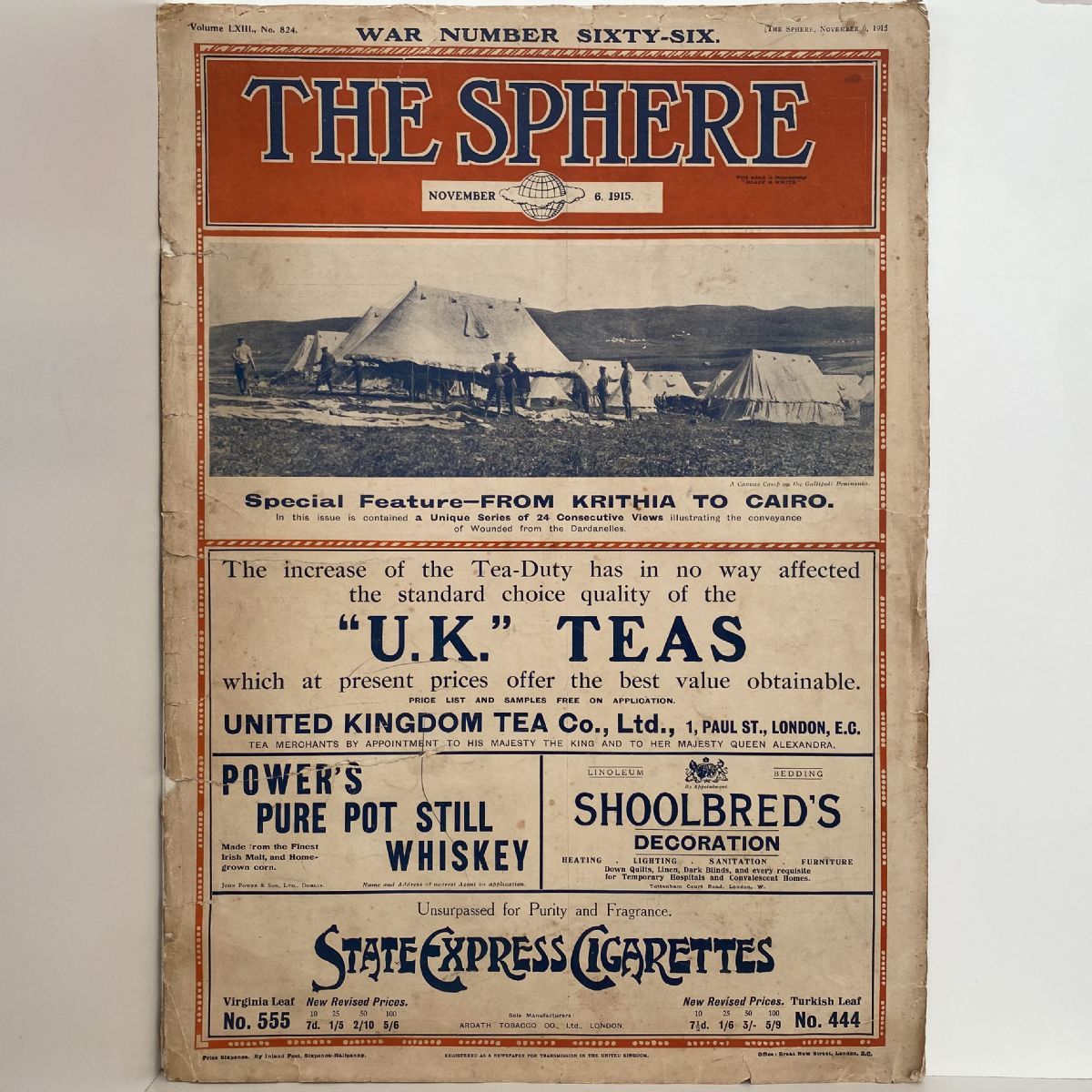 THE SPHERE War Number Sixty-Six. 3 November 1915. No. 824