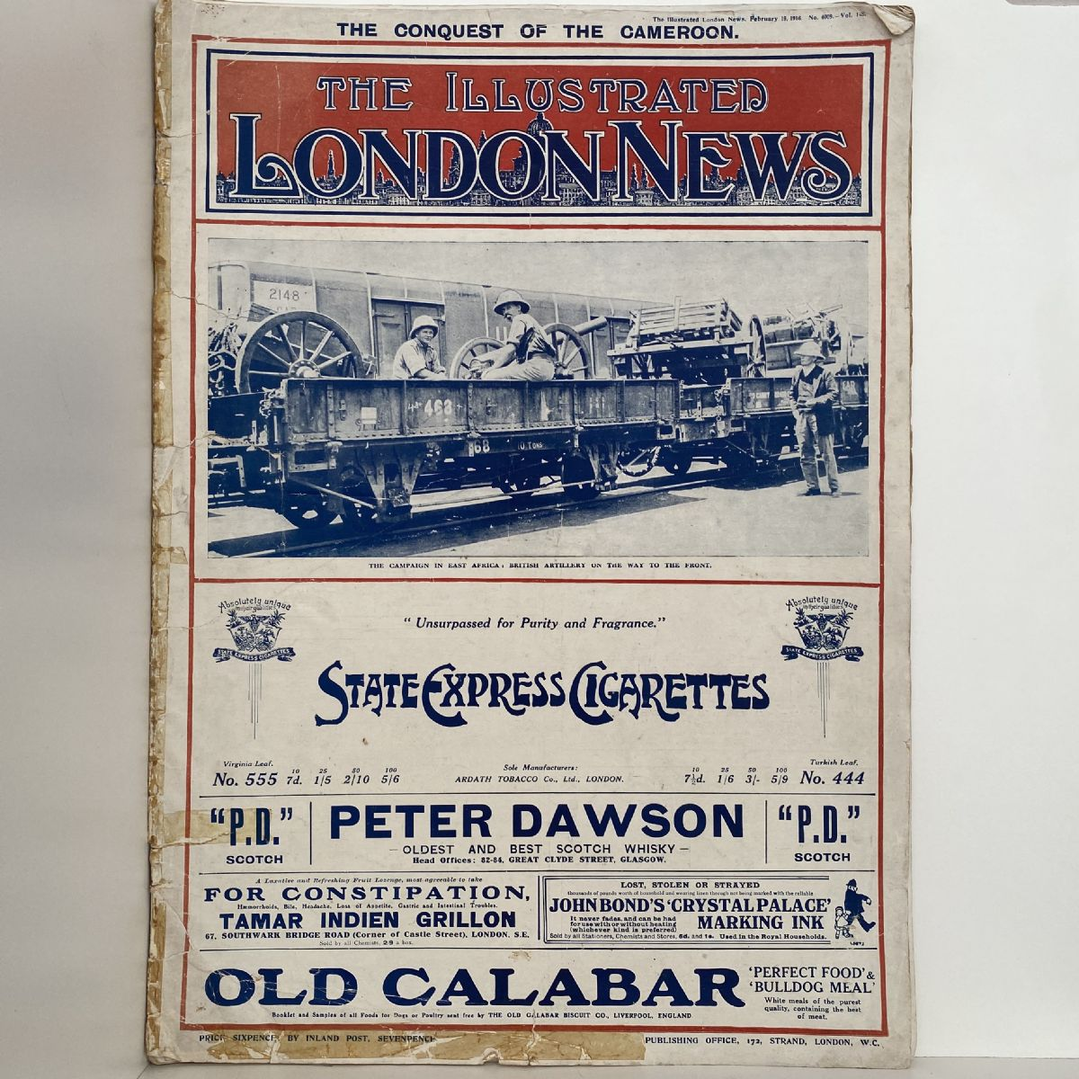 ILLUSTRATED LONDON NEWS The Conquest of the Cameroon. Feb 19, 1916. No. 4009