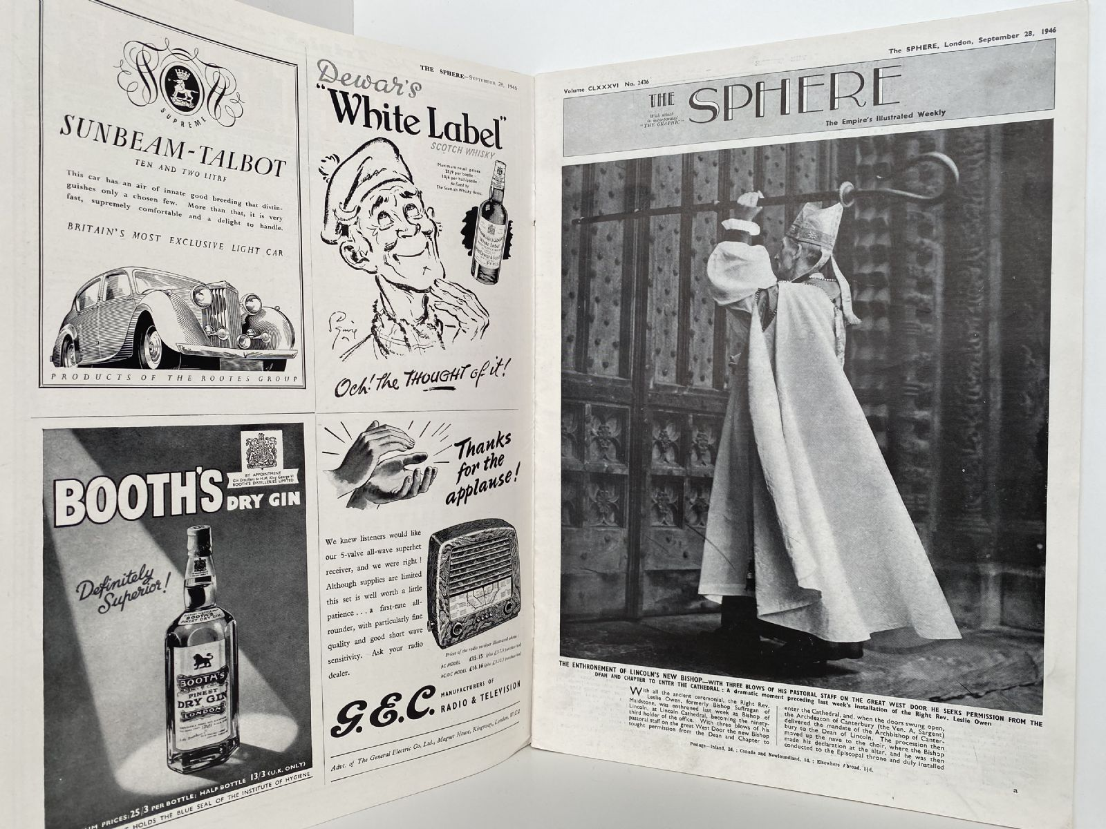 THE SPHERE The Empire's Illustrated Weekly. September 28 1946. No. 2436