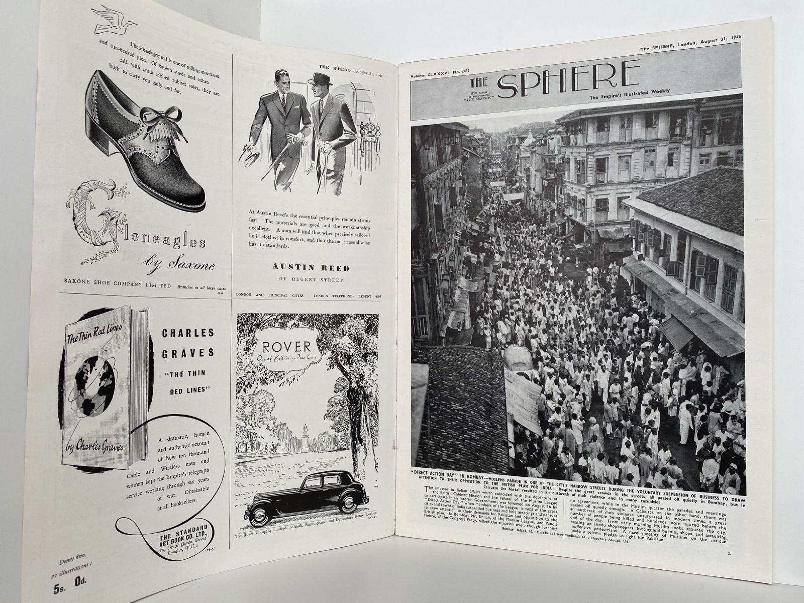 THE SPHERE The Empire's Illustrated Weekly. August 31 1946. No. 2432