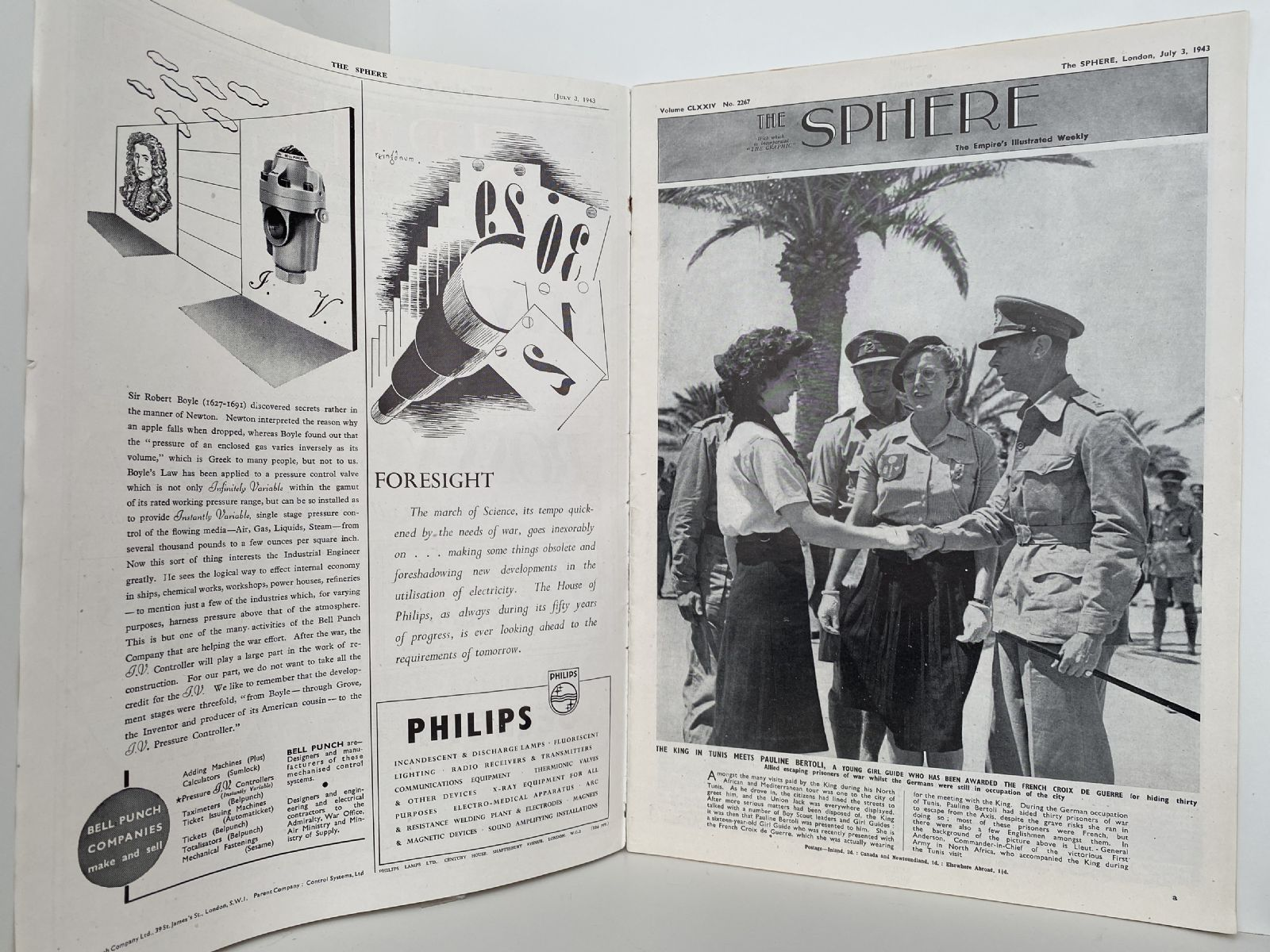 THE SPHERE The Empire's Illustrated Weekly. July 3, 1943. No. 2267