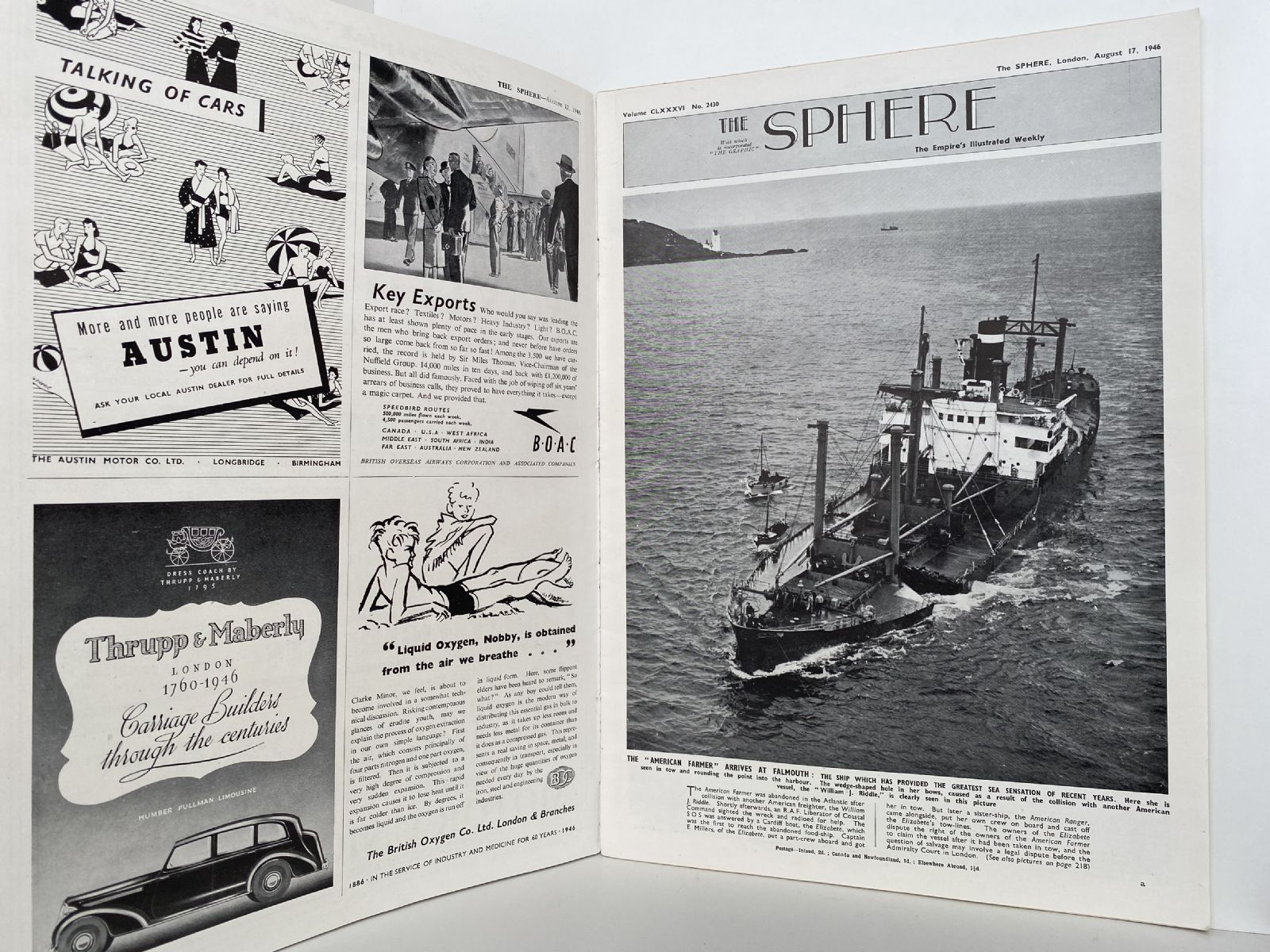 THE SPHERE The Empire's Illustrated Weekly. August 17, 1946. No. 2430