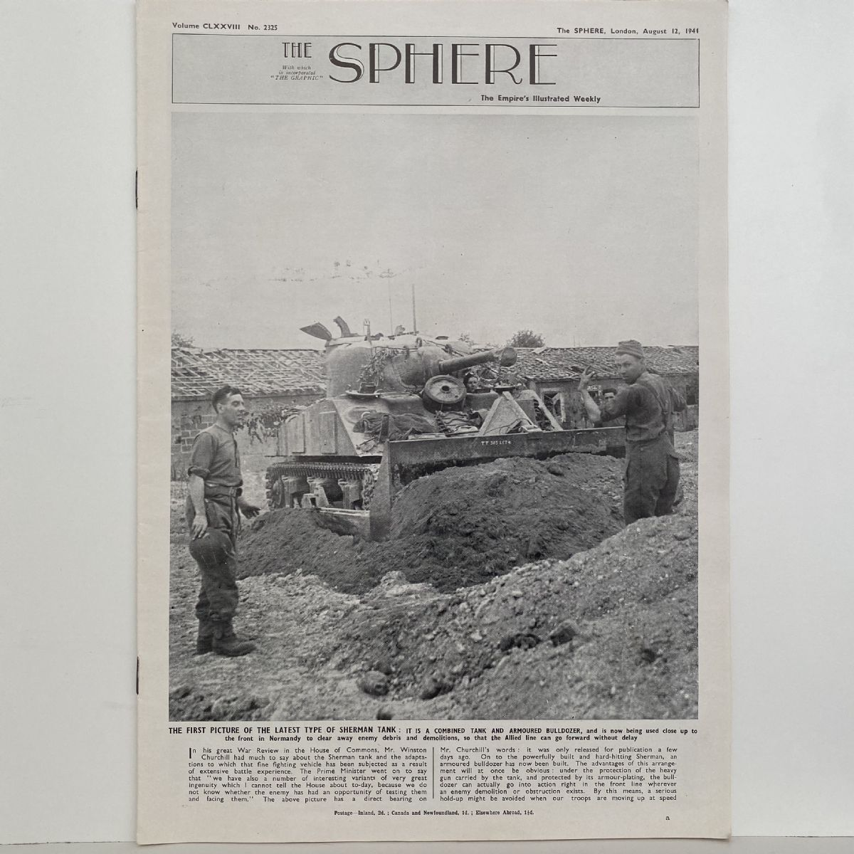 THE SPHERE The Empire's Illustrated Weekly. August 12,1944. No. 2325