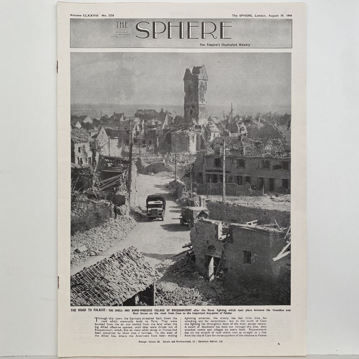 THE SPHERE The Empire's Illustrated Weekly. August 19, 1944. No. 2326
