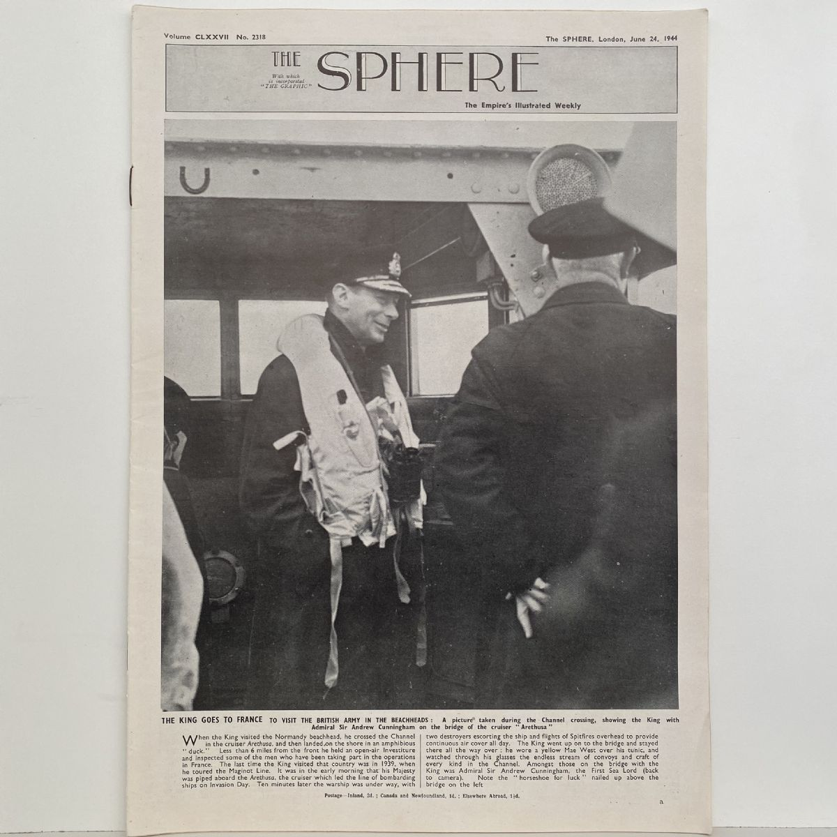 THE SPHERE The Empire's Illustrated Weekly. June 24,1944. No. 2318