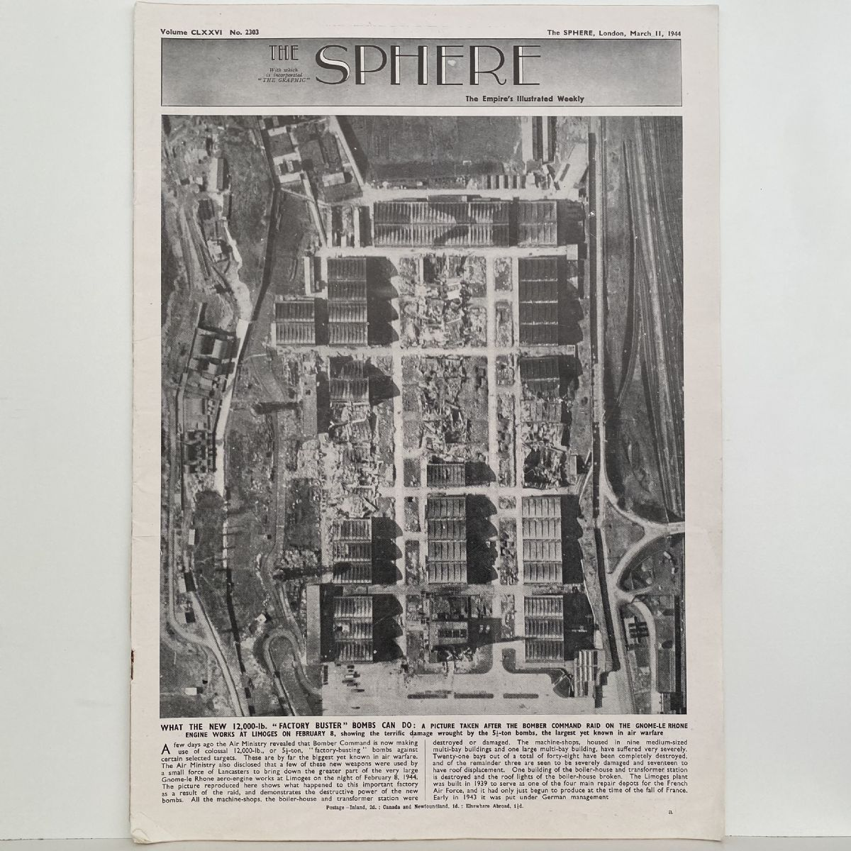 THE SPHERE The Empire's Illustrated Weekly. March 11,1944. No. 2303