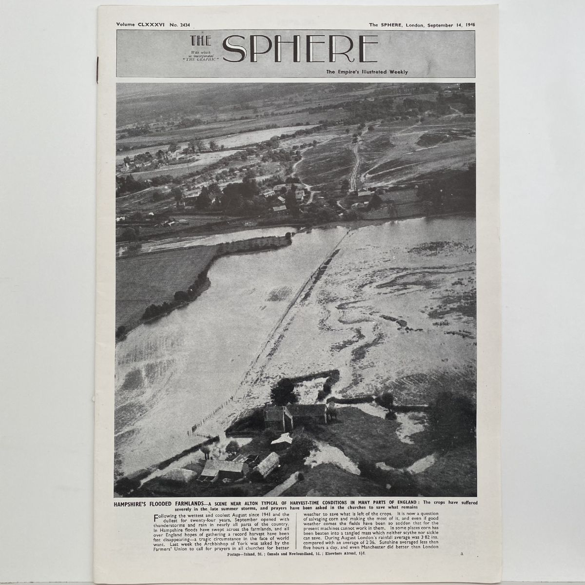 THE SPHERE The Empire's Illustrated Weekly. September 14, 1946. No. 2434
