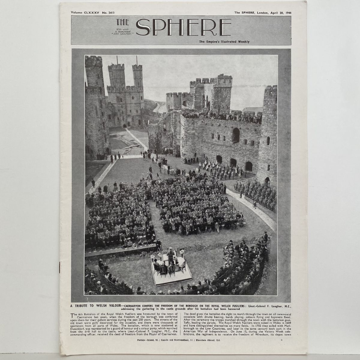 THE SPHERE The Empire's Illustrated Weekly. April 20, 1946. No. 2413