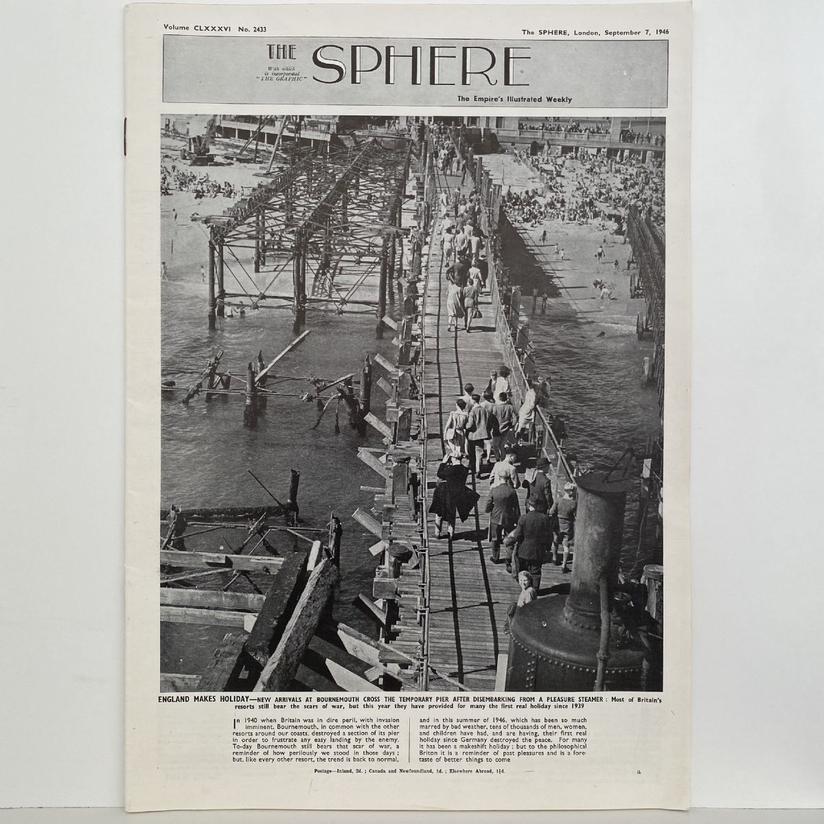 THE SPHERE The Empire's Illustrated Weekly. September 7, 1946. No.2433