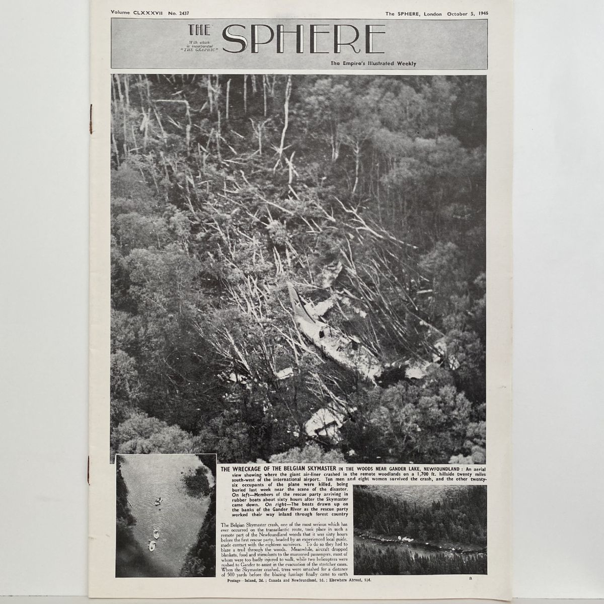 THE SPHERE The Empire's Illustrated Weekly. October 5, 1946. No.2437