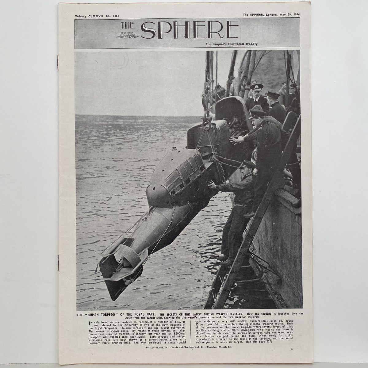 THE SPHERE The Empire's Illustrated Weekly. May 20, 1944. No.2313