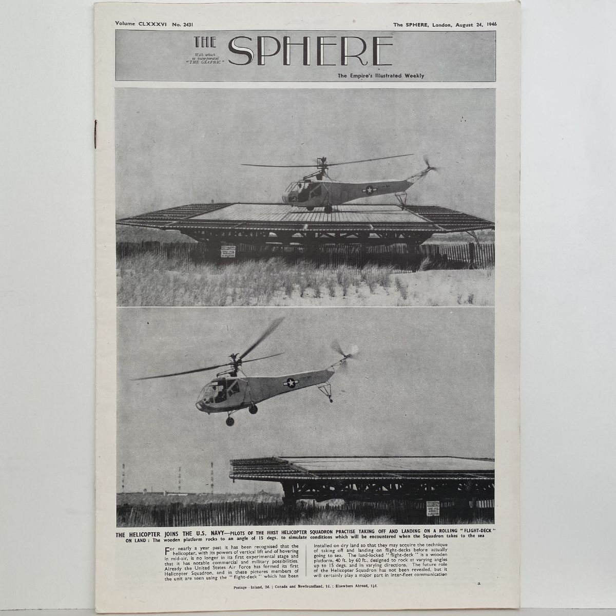 THE SPHERE The Empire's Illustrated Weekly. August 24, 1946. No. 2431