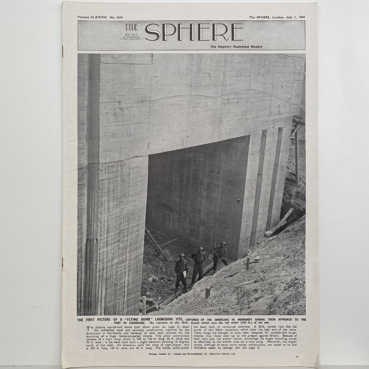 THE SPHERE The Empire's Illustrated Weekly. July 1, 1944. No. 2319