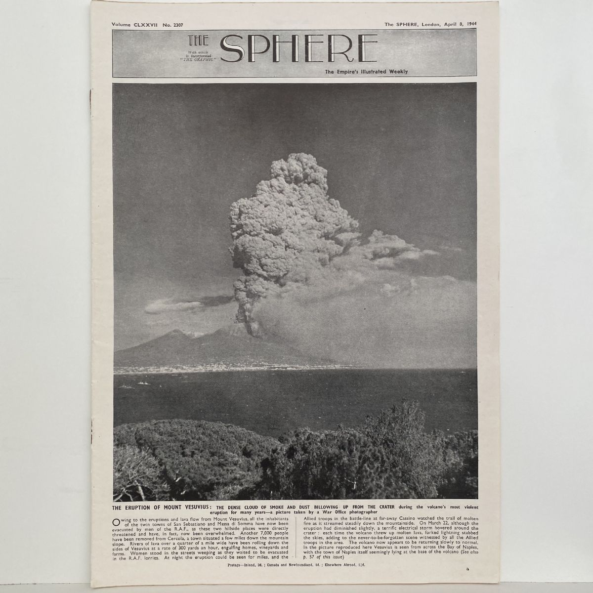THE SPHERE The Empire's Illustrated Weekly. April 8,1944. No. 2307
