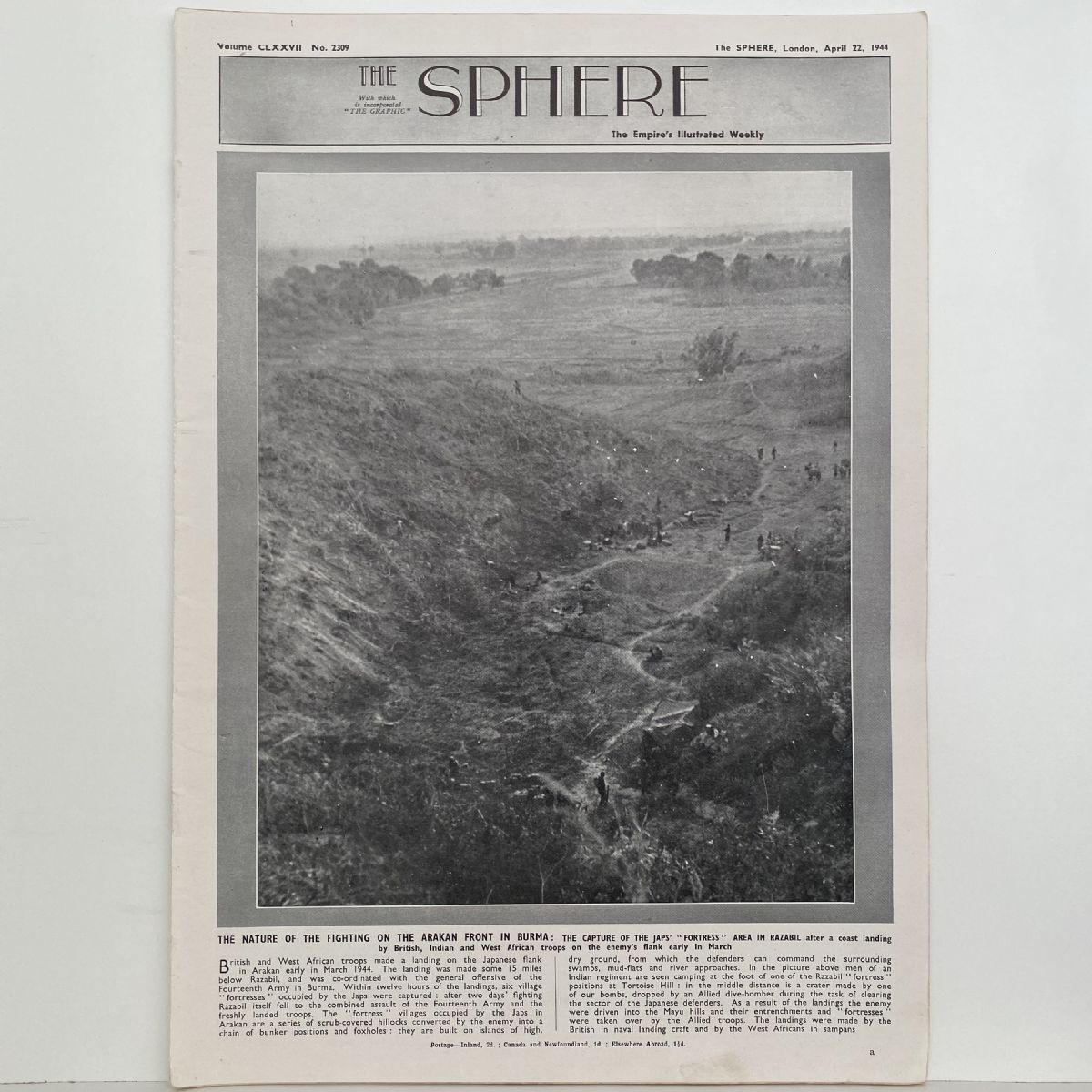 THE SPHERE The Empire's Illustrated Weekly. April 23,1944. No.2309