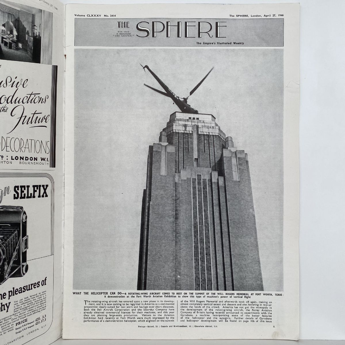 THE SPHERE The Empire's Illustrated Weekly. April 27 1946. No. 2414