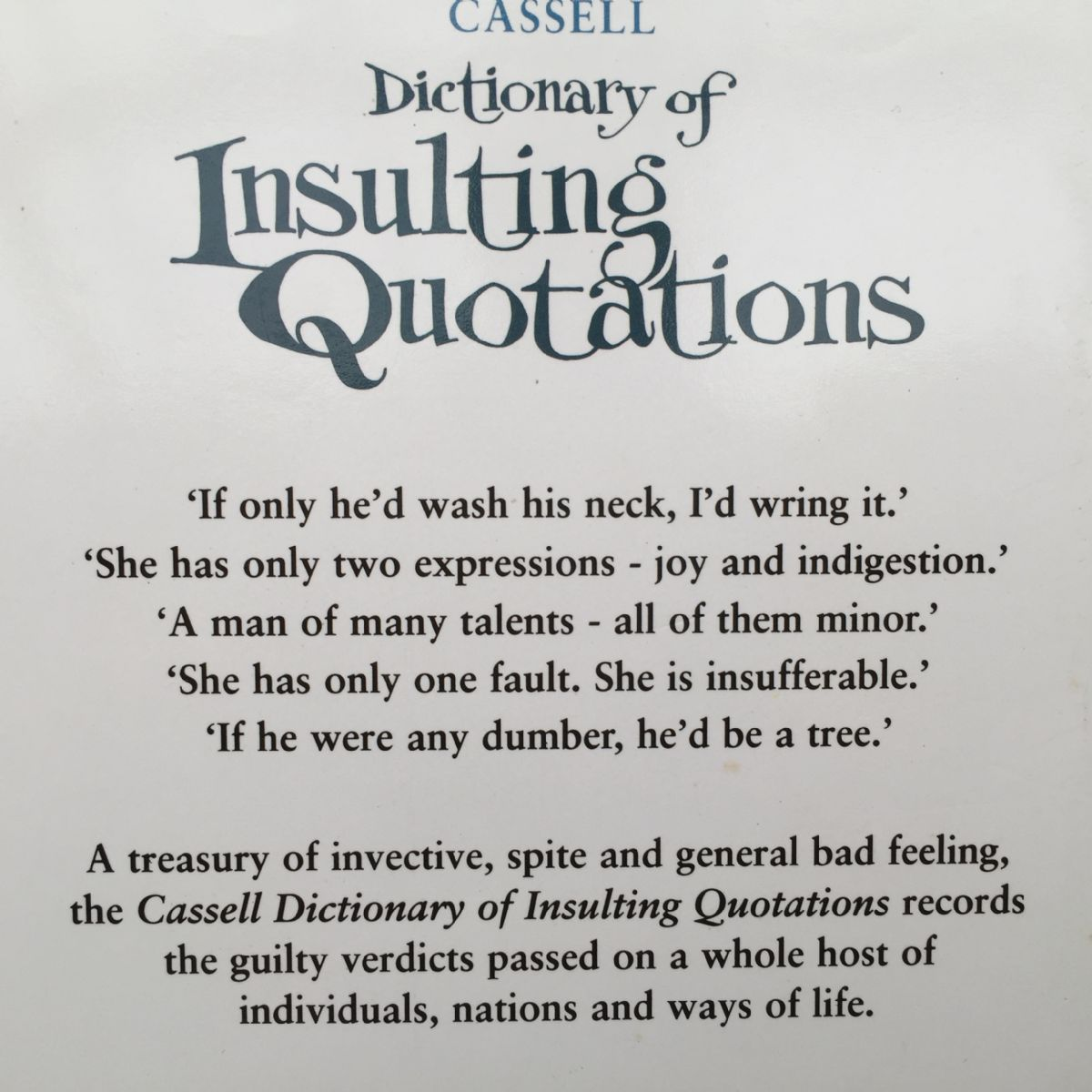 Dictionary Of Insulting Quotations