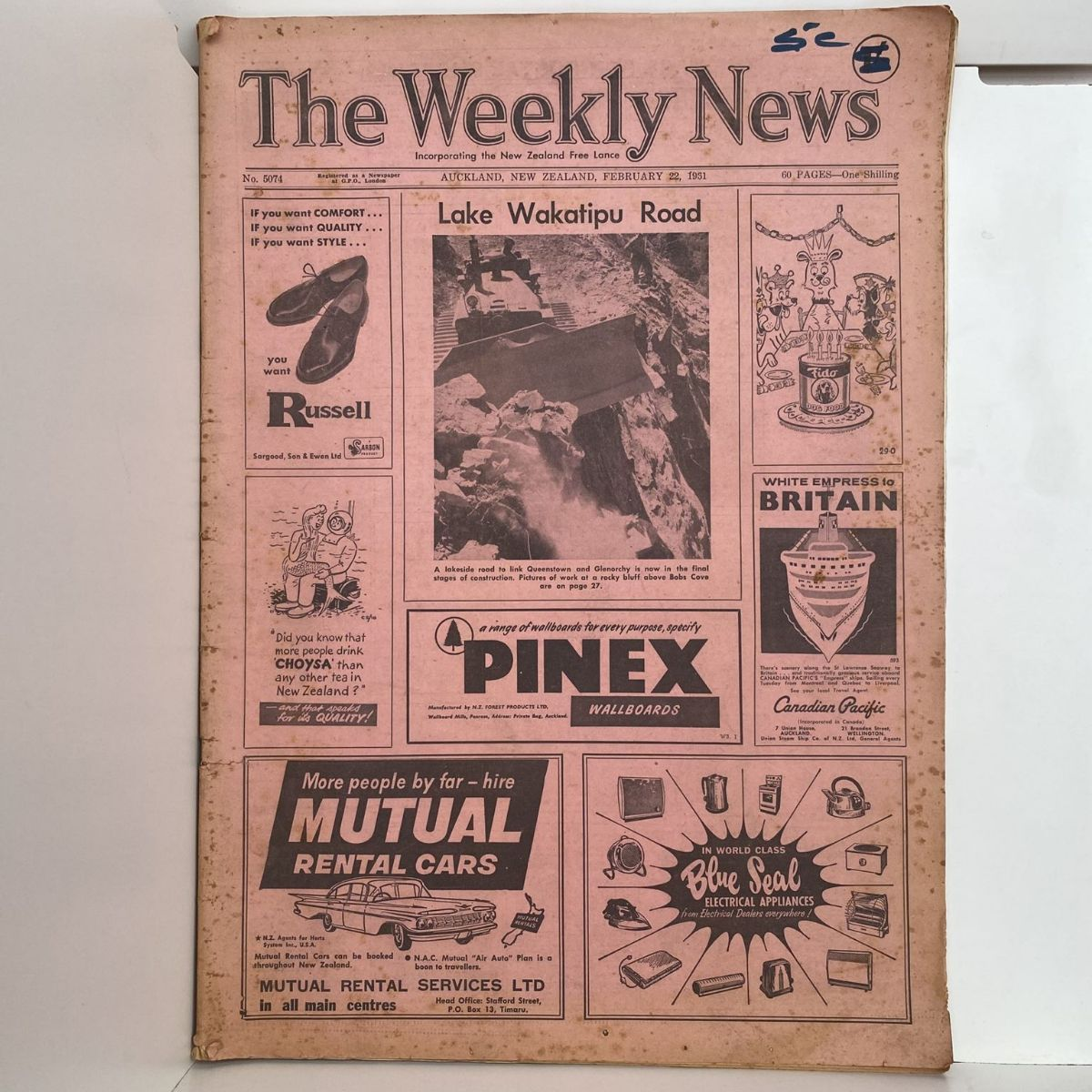 The Weekly News - 22 February 1961