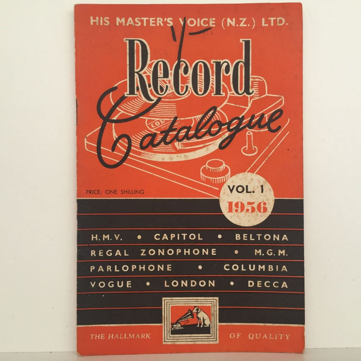 RECORD CATALOGUE: His Masters Voice Vol 1. 1956