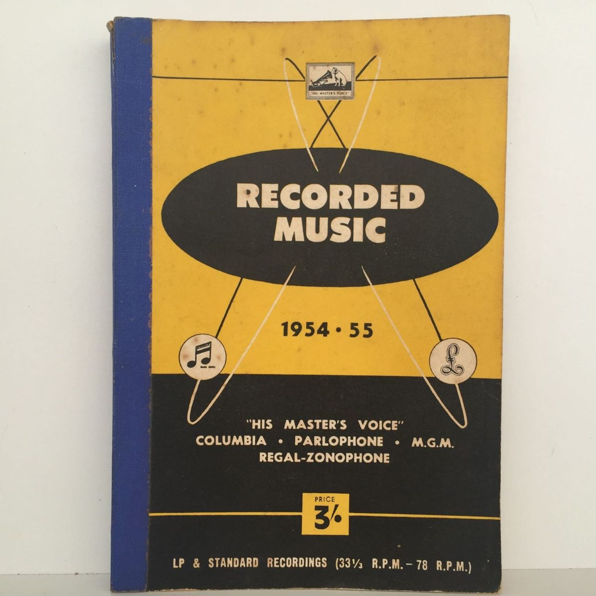 RECORDED MUSIC 1954 - 55: Vintage Catalogue of Long Playing Records