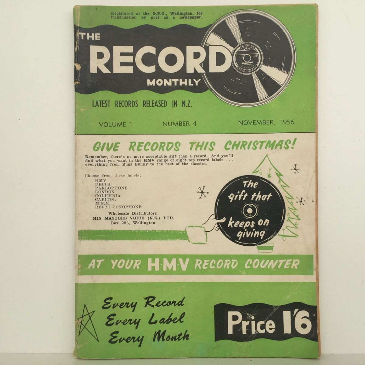 THE RECORD MONTHLY: His Masters Voice Vol 1 #4 March 1956
