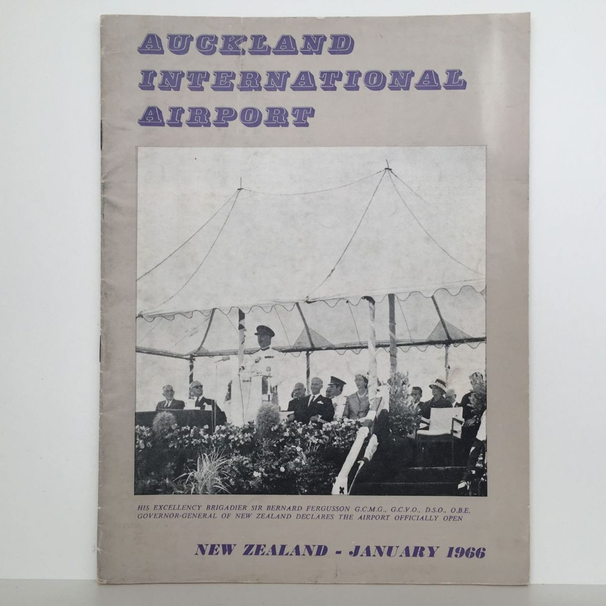 AUCKLAND INTERNATIONAL AIRPORT: Official Opening Jan 1966