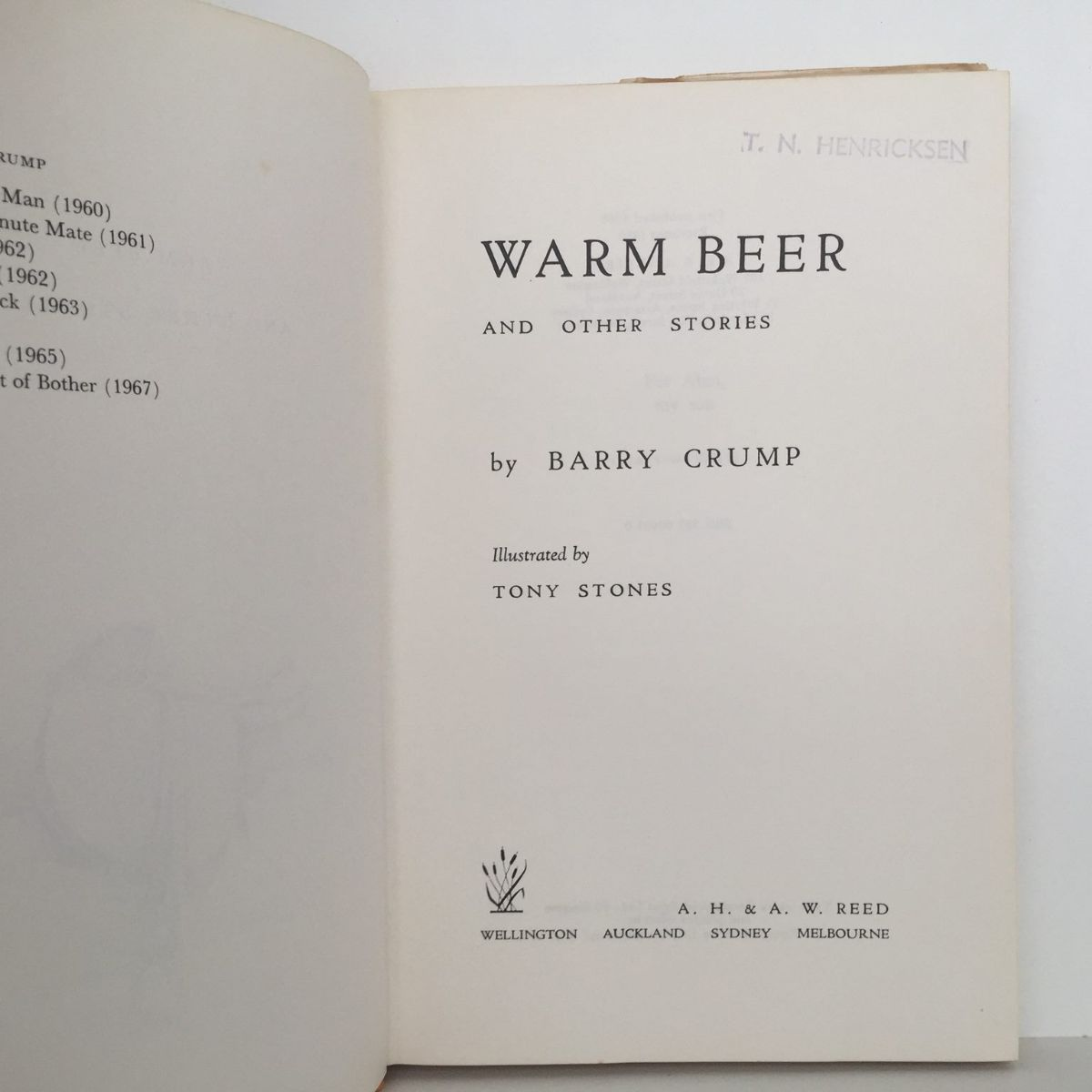 WARM BEER & OTHER STORIES