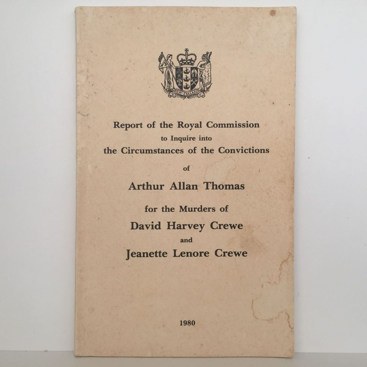 Arthur Allan Thomas and Crewe Murders : ROYAL COMMISSION OF INQUIRY