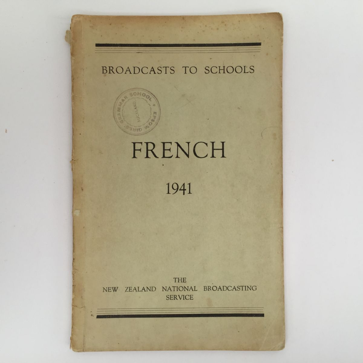 French 1941 Broadcasts to Schools