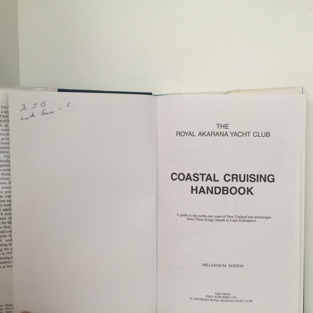 Royal Akarana Coastal Yacht Club Coastal Cruising Handbook