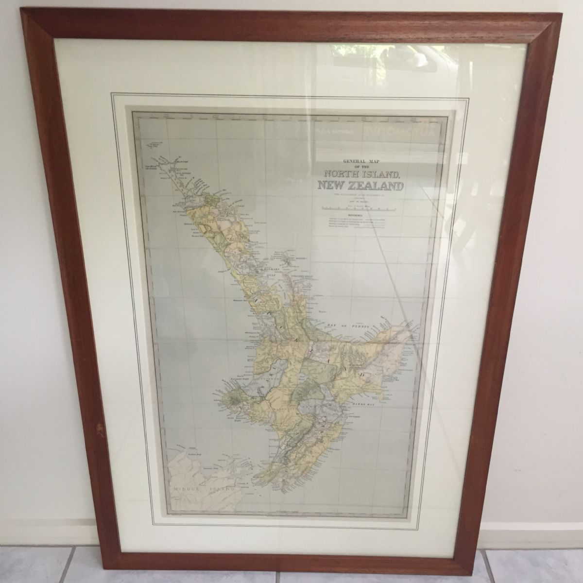 General Map of the North Island, New Zealand