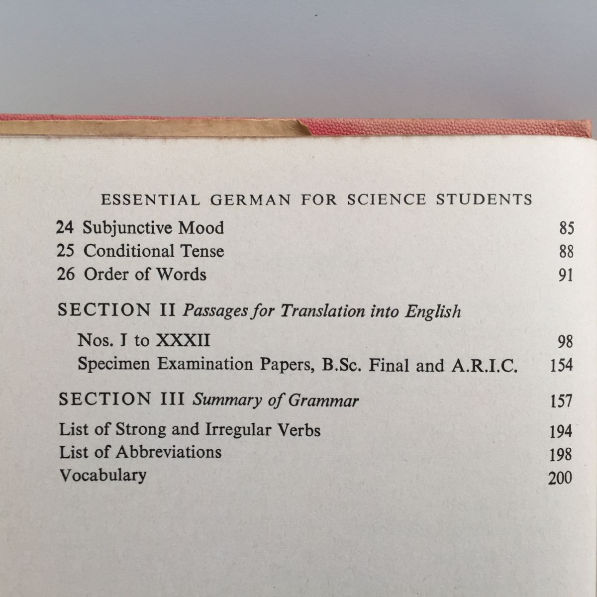 Essential German for Science Students